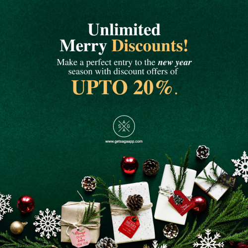 Unlimited Merry Discounts! Make a perfect entry to the new year season with discount offers of upto