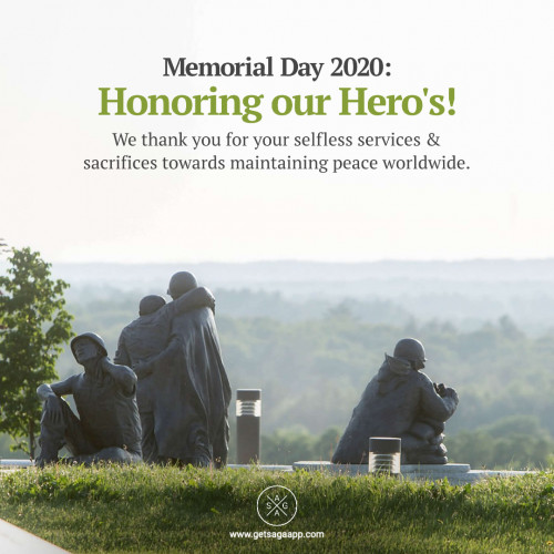 Memorial Day 2020: Honoring our Hero's! We thank you for your selfless services & sacrifices towards